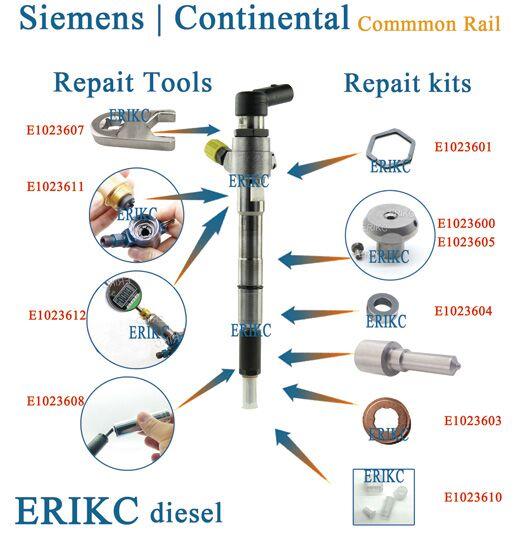 Inyector piezoeléctrico B60 1,34-1,52mm Ajuste de boquilla arandela Shims B61 tamaño 0.970-1.015mm Total 50 Uds para Siemens Contenental