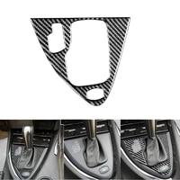 for bmw 6 series e63 e64 2004 2007 car interior carbon fiber gear shift panel cover trim car stickers decoration left handed