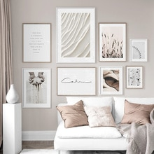 Planta de trigo de abedul, rueda de Ferris, cita, arte de pared, lienzo impreso, pintura, carteles nórdicos e impresiones, imágenes de pared para sala de estar