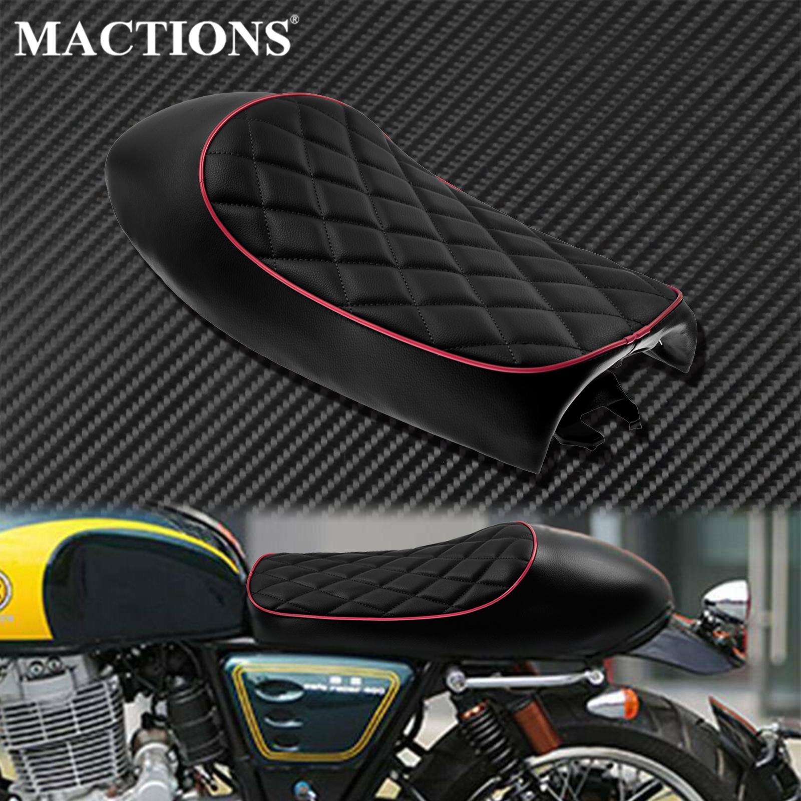 مقعد دراجة نارية عالمي مخصص ، سرج ريترو لهوندا CB CL CB200 CB350 CB400 CB550 CB750 لياماها