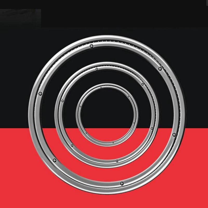 HQ SD01 40-120 سنتيمتر القطر الصلبة الفولاذ المقاوم للصدأ كسول سوزان الفولاذ الدوار دوار لوحة تحمل Tabble قطب قاعدة