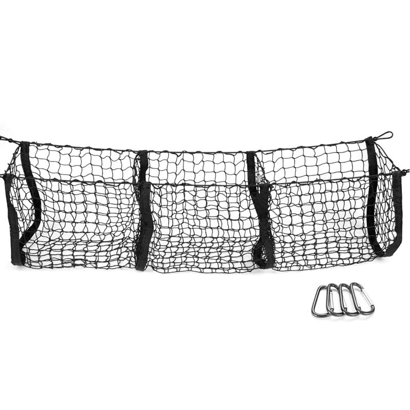 Pocket Trunk Storage Bag Storage Heavy Cargo Net Suitable for Car SUV Pickup Truck Bed Black Mesh Be