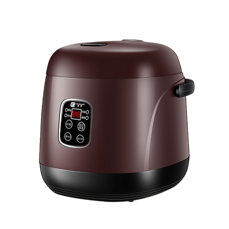 dmwd electric intelligent slow cookers mini timing water stewing soup porridge pots multifunctional ceramic whiteware liner 0 7l Electric Rice Cooker 1.2L Smart Timing Appointment Food Heating Cooking Steamer Porridge Soup Stew Pot Heater Cake Yogurt Maker