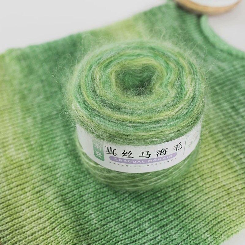 Fio de lã merino do fio de mohair da linha de crochê do fio da caxemira da lã de mohair do cabelo longo de 100g para a mão que faz malhas para suéteres de tricô