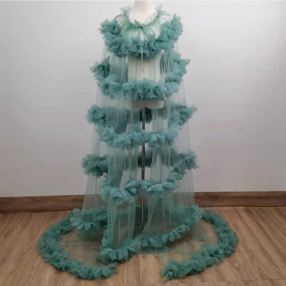 Don&Judy Tulle Vogue Cape Gown Maternity Dress For Photo Shoot Maternity Cloak Photography Party Prom Dresses Accessories2021 enlarge
