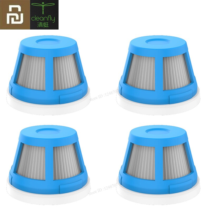 Cleanfly fvq conjunto do filtro de vácuo hepa para carro portátil casa aspirador sem fio handheld