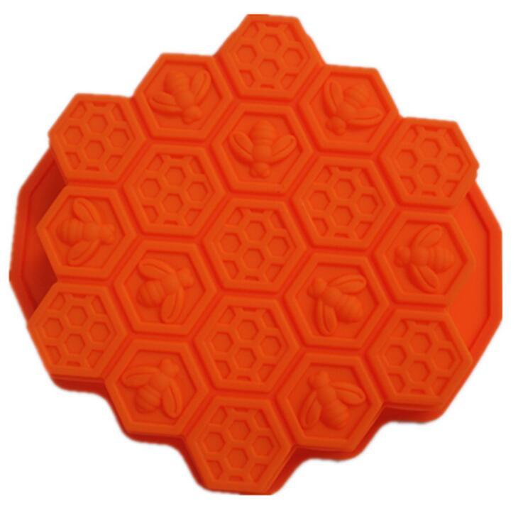 Moldes para jabón de miel en forma de panal, moldes para hornear resistentes a la temperatura, prácticos, de silicona fácil de limpiar, molde para Tartas LX2484