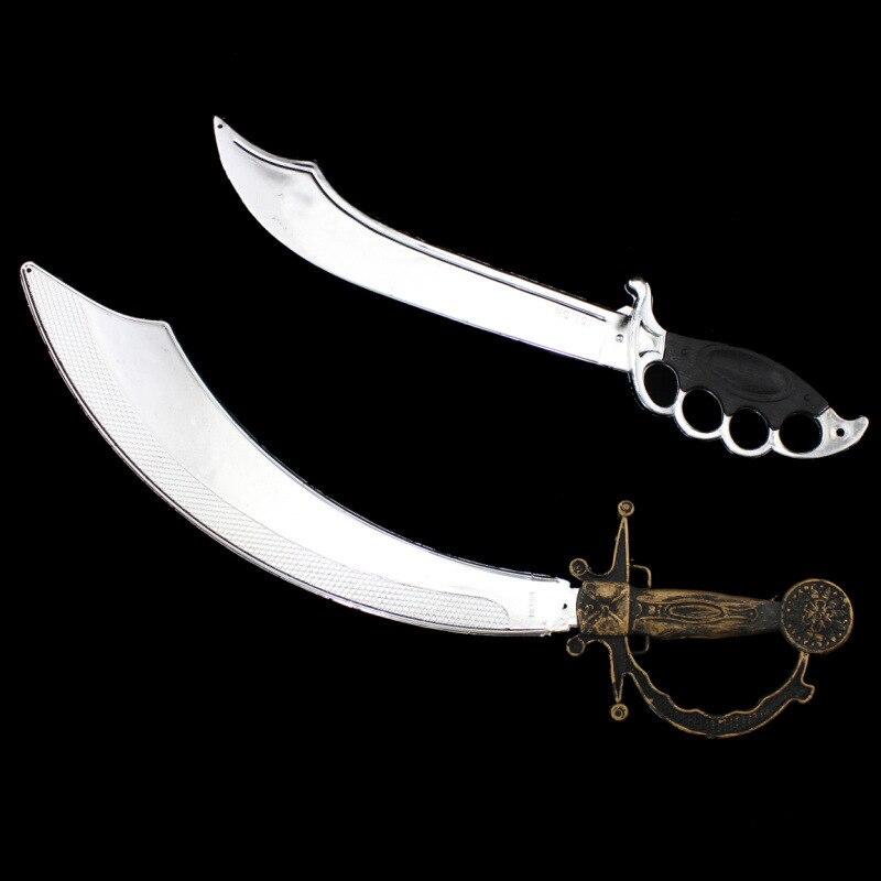 Accesorio de Halloween 2019, accesorios de disfraces, vestido de pirata, cuchillo de plástico espada Piratas del Caribe, cuchillo de decoración de Halloween