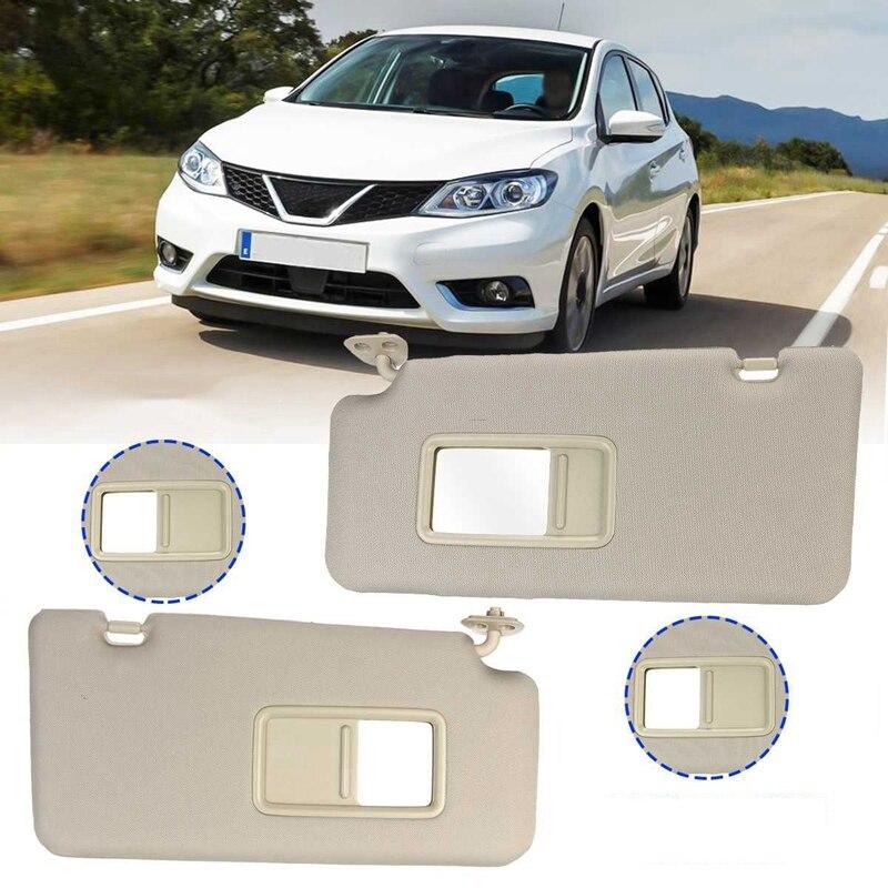 1 par de carro interior sunvisor escudo sombra placa com espelhos espelho para nissan tiida 2005 2006 2007 2008 2009 2010