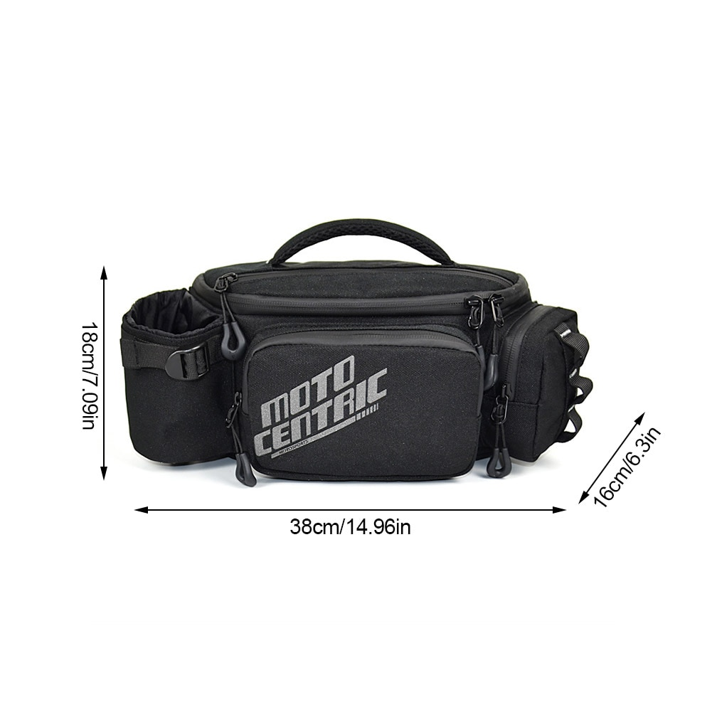 Motorcycle Waist Pack Bag Large Capacity Unisex Fanny Pack Wearable Hip Bum Bag With Adjustable Strap For Travel Running Cycling enlarge