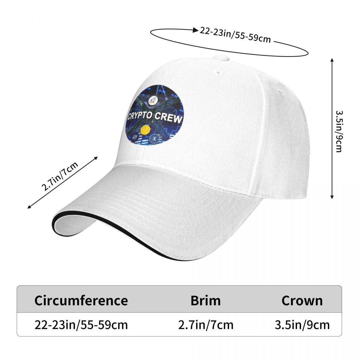 Крипто экипаж Рыболовная шляпа Dogecoin, солнцезащитные забавные мужские женские мужские кепки