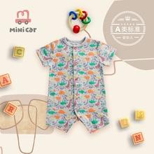 Car children's wear baby short dinosaur bodysuit baby summer thin hatsuit climbing clothes