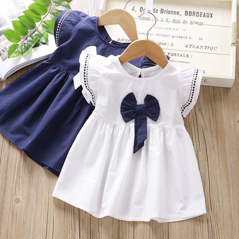 Bebê recém-nascido meninas roupas de verão vestido de algodão traje para meninas roupas de bebê 1st aniversário vestidos de bebês vestido