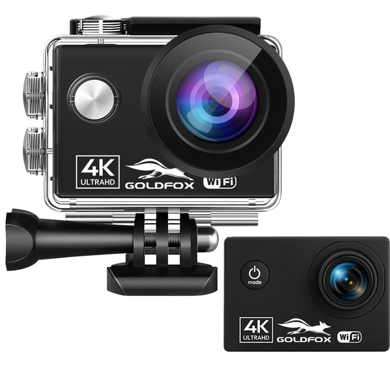 Cámara de Acción 4K Ultra HD 60fps Wifi 16MP 2,0 170D lente bajo el agua casco impermeable deportes videocámara grabación