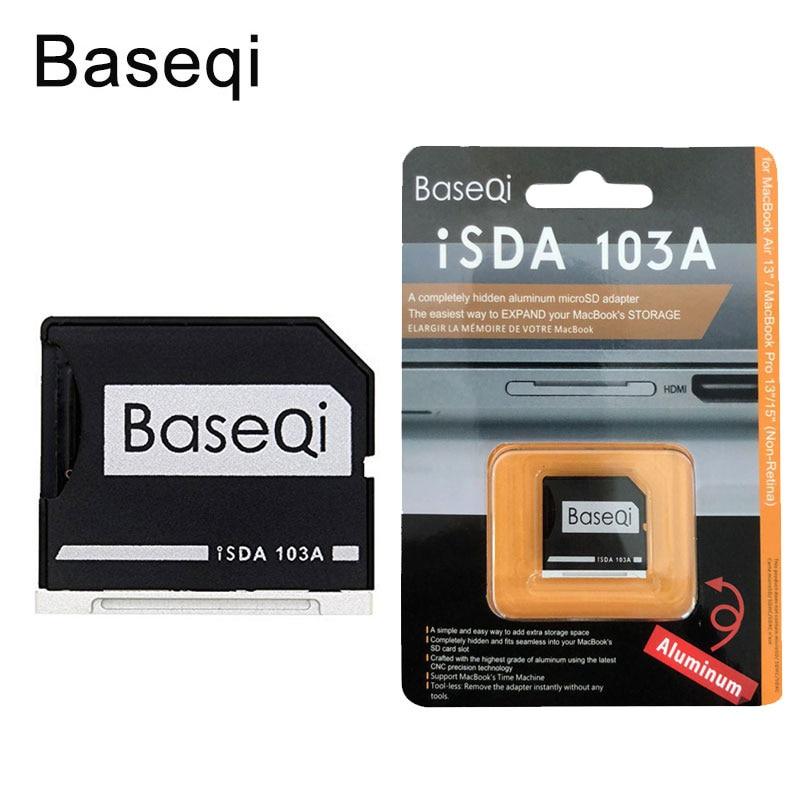 BASEQI Aluminum microSD Adapter Metal TF Card Reader for MacBook Air 13