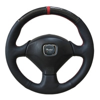 Microfiber leather Car Steering Wheel Cover for Honda accord Euro R for Honda S2000 2000-2008 Braid on the steering wheel Case