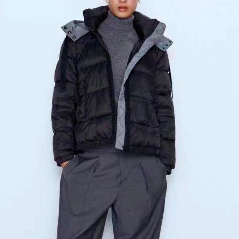 جديد معطف Za للشتاء سترات نسائية سترات باركاس سميكة 2021 للخريف أسود مقاس كبير ملابس هاراجوكو ملابس خارجية فضفاضة للنساء
