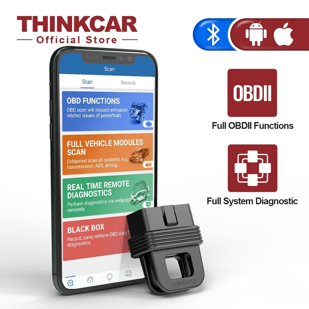 THINKCAR 1S OBD2 Scanner Automotivo DTCs Lookup Print Report Code Reader Car Full System Diagnostic Tool Bluetooth Connection thinkcar thinkscan 609 obd2 car scanner engine tcm abs srs full system auto code reader obd 2 scanner automotivo diagnostic tool