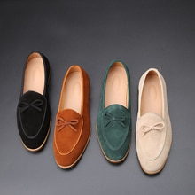 2021 Suede Leather Men Loafer Shoes Fashion Slip On Male Shoes Casual Shoes Man Party Wedding Footwe