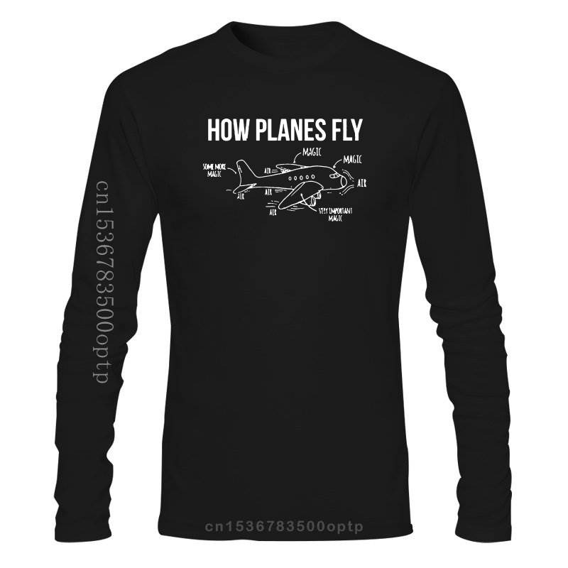 New Airplane Structure How Planes Fly Men T Shirts Schematic Diagram Introductions Simple T-Shirts Mens Summer Funny Tshirts
