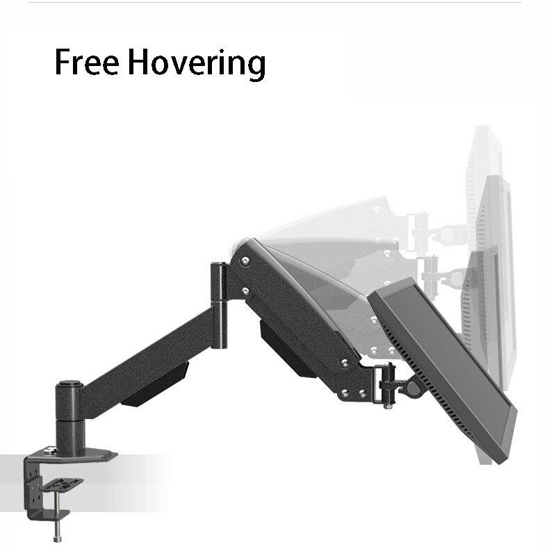 L150 Desktop Clamping Mount And Grommet Mount Gas Spring Full Motion LCD LED Monitor Holder TV Mount Loading 10kgs