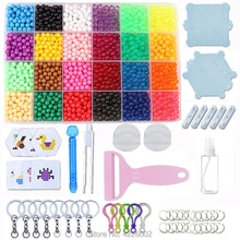 Water Beads DIY Set Pearl Box Spray Bead Pegboard Game Puzzle Kit Accessories Kids Designer Toys for