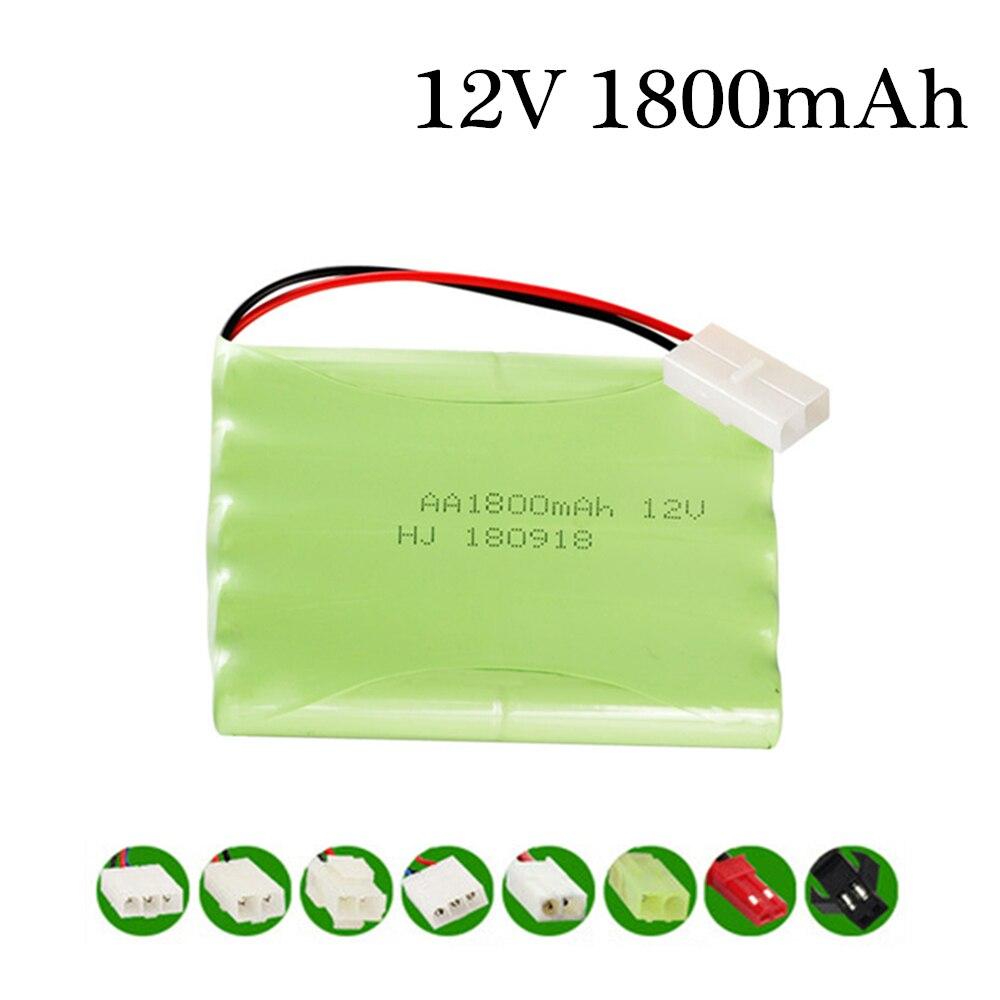 Batería NiMH de 12v y 1800mah para Rc toys, tanques para coches, trenes, Robot Barco, pistola Ni-MH AA de 1800mah, 12v, batería recargable, 1 Uds.
