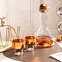 nordic glass cup drink home set luxury crystal water glasses plating transpar creative teapot funny copos de vidro drinkware