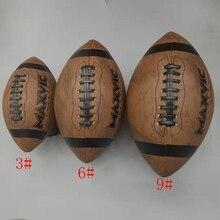 Nuevo tamaño de alta calidad 3/6/9 fútbol americano de cuero Retro fútbol juvenil adulto profesional pelota de entrenamiento