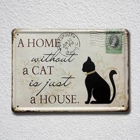 2 styles black cat letters drop shipping tin sign metal sign metal poster metal decor metal painting wall sticker wall sign