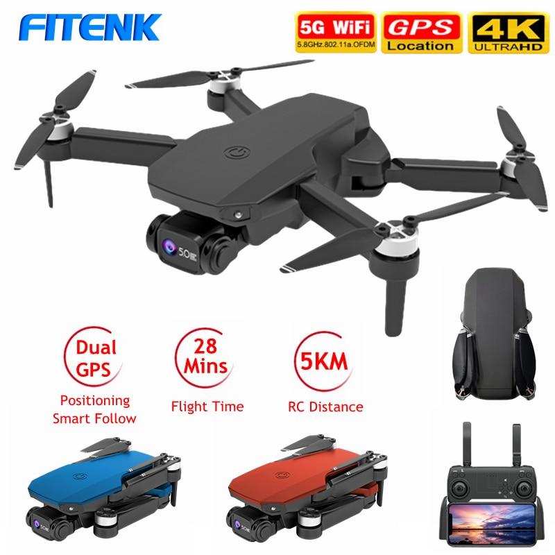 FITENK K518 GPS Drone con HD 4K cámara Profesional 5G WIFI FPV...