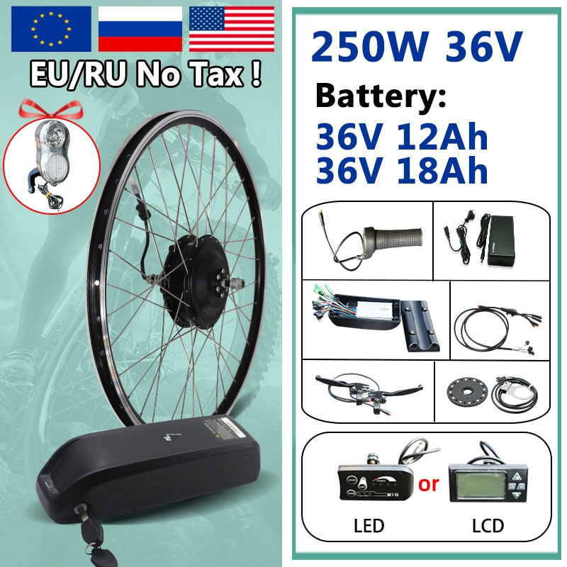 Kit de conversión de bicicleta eléctrica, sin impuestos, 20-29 pulgadas, 250W, Motor...