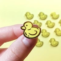 yellow rubber ducky enamel pin badge jewelry cute pin accessories