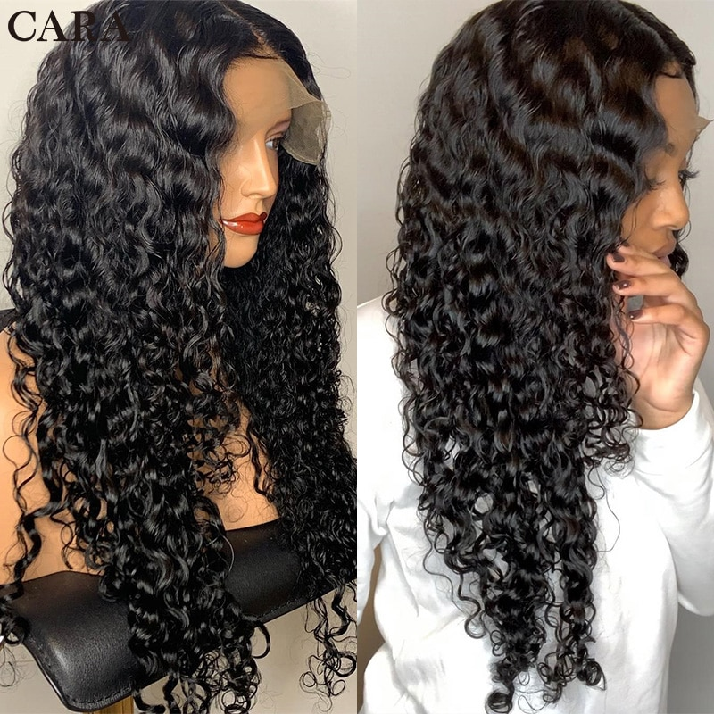 Glueless Real Human hair Wigs 360 Lace Frontal Wig Pre Plucked With Baby Hair Brazilian Blond Remy Loose Curly Human Hair Wigs