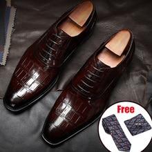 Men Genuine cow leather brogue wedding Business mens casual flats shoes 2020 black vintage oxford shoes for men's shoes