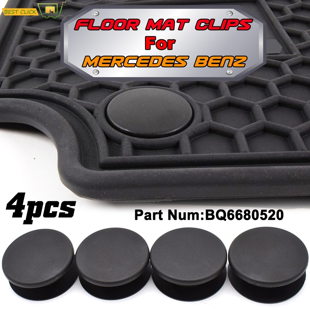 4pcs Car Floor Mat Clips Carpet Retainer Grips Holders Fixing Clamps Fastener For Mercedes Benz amg W205 W245 X164 W140 X156