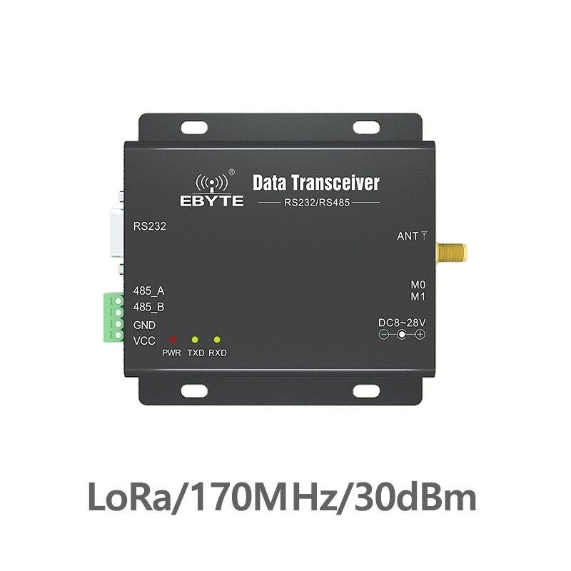 E90-DTU-170L30 RS232 RS485 170MHz LoRa 1W TCXO Wireless Transceiver Long Range 8km rf Module Radio Modem For Data Transmission lora wireless module rs232 rs485 433mhz tcxo cojxu e90 dtu 433l30 wireless transceiver long range 8km plc receiver radio modem