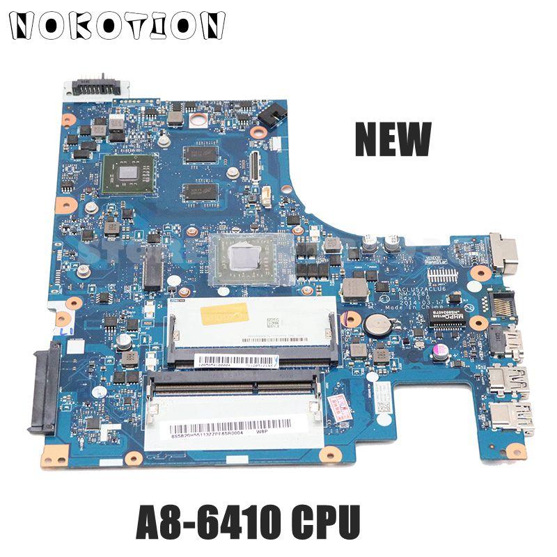 Nm-a281 para Lenovo Nokotion Novo Ideapad G50-45 15 Polegada Laptop Motherboard 5b20h55113 r5 M230 A8-6410 Cpu Gpu Aclu5 Aclu6