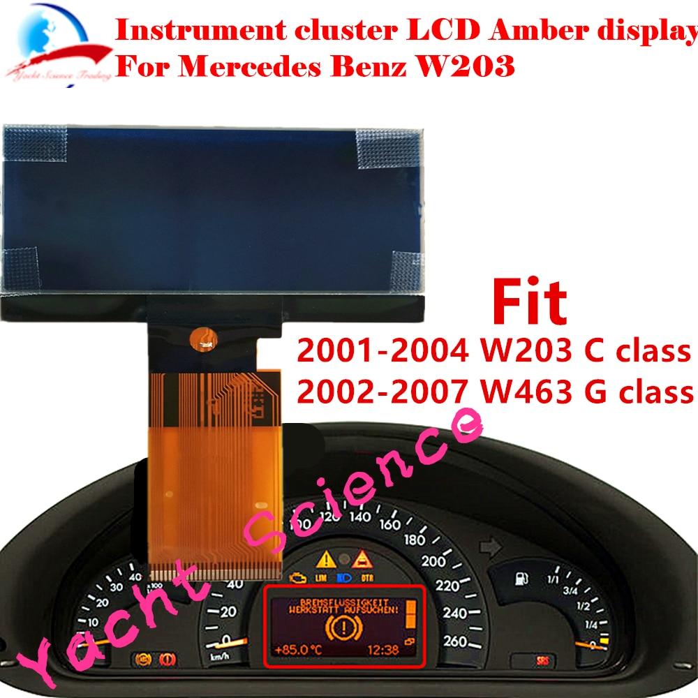 Instrument Cluster Dashboard LCD Display Screen Pixel Repair For Mercedes Benz W203 C Class 2000-2004/W463 G class 2002-2007