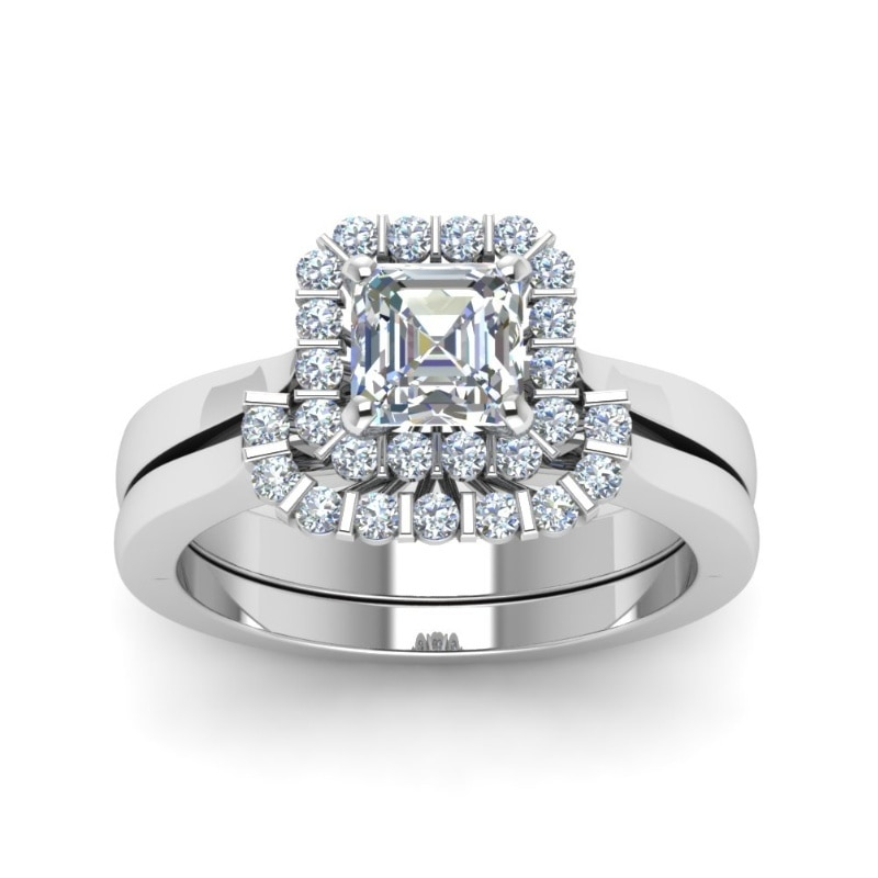 2021 Fashion Women Rings Cubic Zirconia Inlay Wedding Engagement Bands Christmas Gift For Girl Jewelry Accessories
