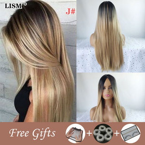 New Natural Long Blonde Synthetic Water Wave Wig Pelucas De Mujer Toupee Hair for Women Lolita Black/White/Brown Fashion Wigs