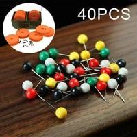 40pcs mix color rig safe spare pins carp fishing 0 61 7cm rig box winder pin dedicated positioning pin for main line box shaft