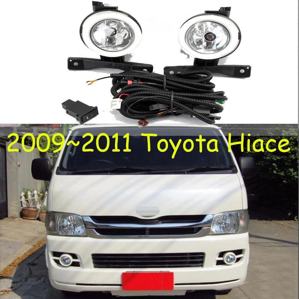 Faro de parachoques para Toyota Hiace, faro antiniebla 2009 ~ 2011y, bombilla halógena de 4300 K, faro delantero con cable de hanress para Toyota Hiace, faro antiniebla