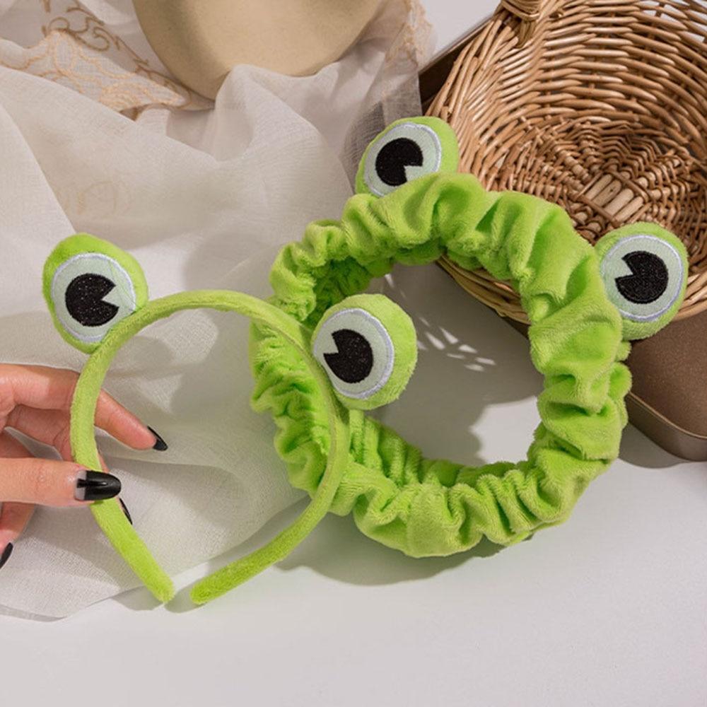 Ikat kepala solek katak lucu, tali rambut elastik berbaju lebar, tali - Aksesori pakaian - Foto 1