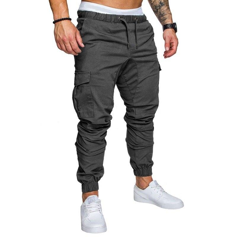 Брендовые мужские брюки, Джоггеры в стиле хип-хоп, брюки 2019, мужские брюки, мужские джоггеры, однотонные брюки с несколькими карманами, спорт...