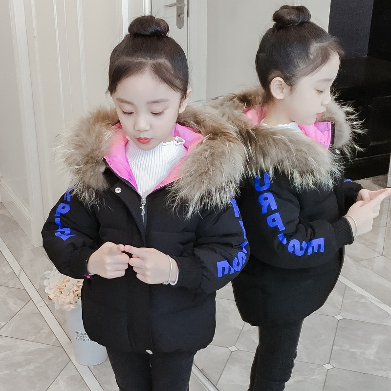 Girls Winter Quilted Cotton Cloth Big Children's  Cotton-Padded Clothes Children's Girls Fashion Cotton-Padded Jacket enlarge