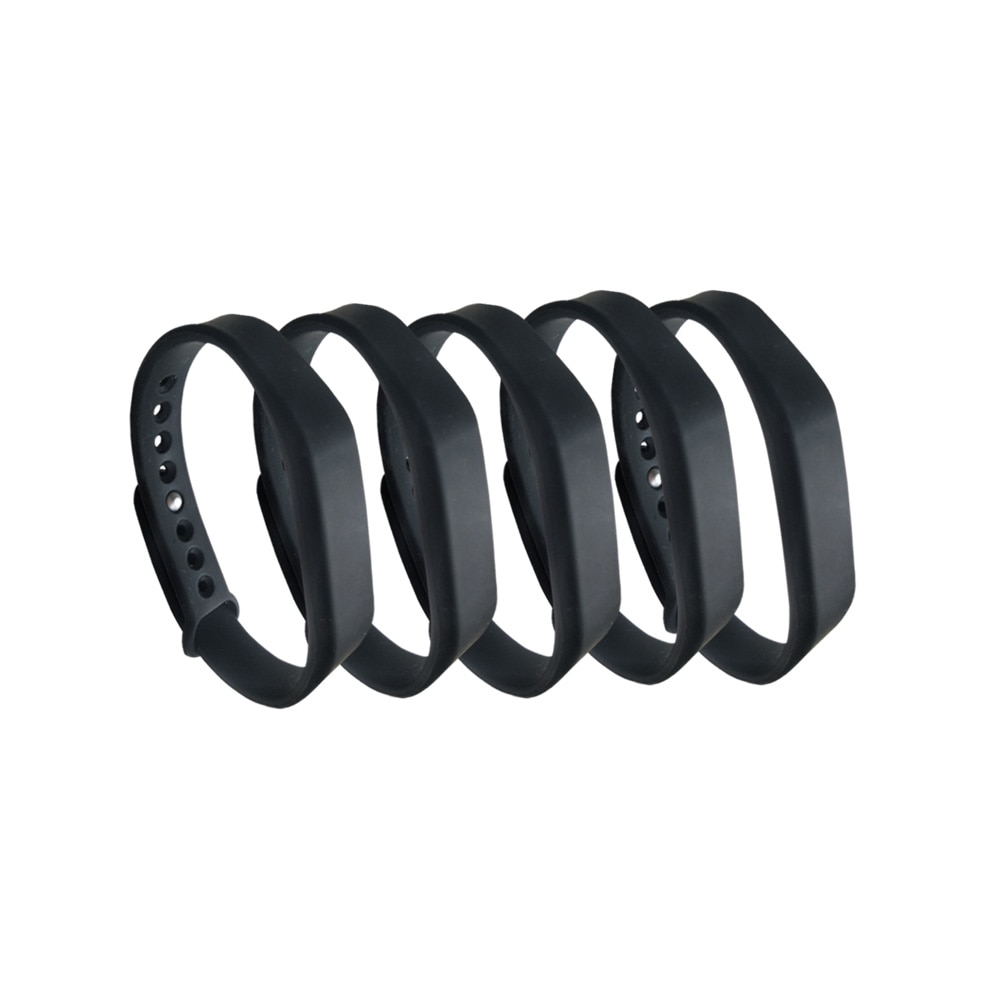(5 pçs/lote nova dellon rfid ajustável tk4100 125khz silicone à prova dwaterproof água pulseira rfid bracel id tags