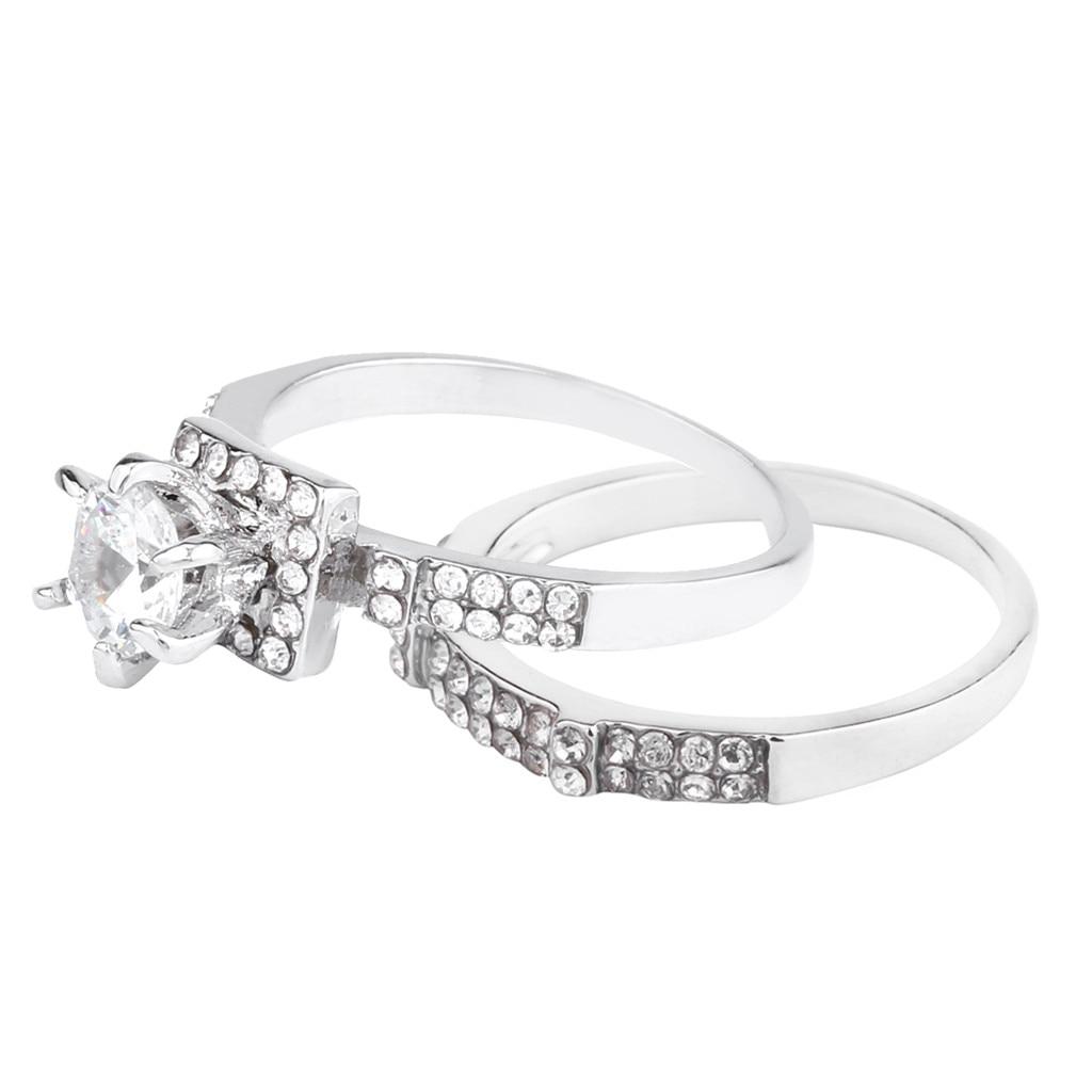 Superb Women Shiny White Sapphire Diamond Engagement Ring Elegant Stackable Brid Women Wedding Ring Fine Jewelry Scarf Hijab Pin