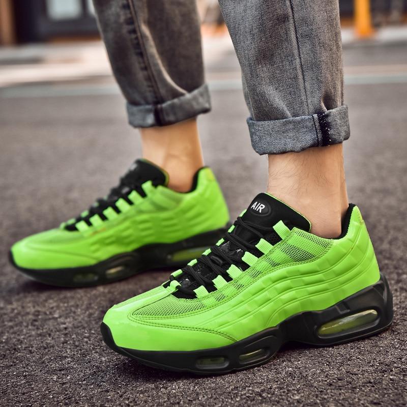 Zapatillas de correr de estilo Retro y verde para hombre, zapatillas Air Sneakers talla 47, zapatillas deportivas transpirables para hombre