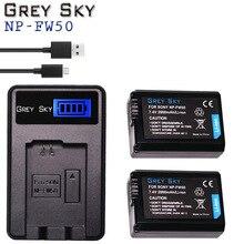 NP-FW50 LCD USB Dual charger+2x NP FW50 batteries for Sony NEX-5 NEX-7 SLT-A55 A33 A55 A37 A3000 A5000 A5100 A6000 A6300 A7000